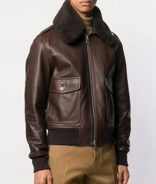 Roberge-Mens-Causal-Shearling-Fur-Style-Brown-Bomber-Leather-Jacket-600×706