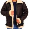 men-brown-b3-bomber-shearling-leather-jacket