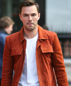 Nicholas Hoult Radio Studios Orange Jacket