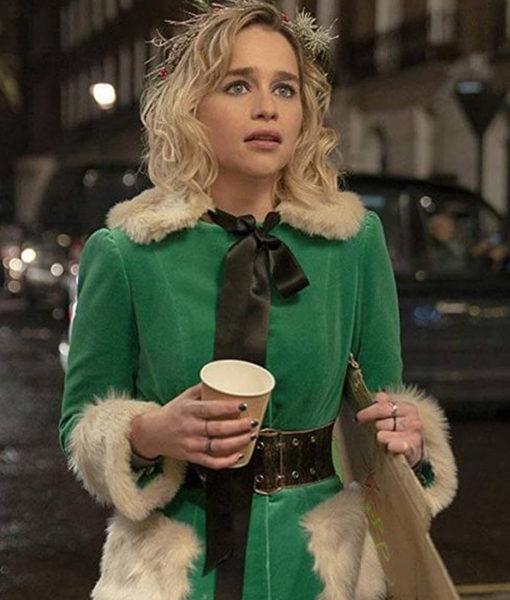 Last Christmas Emilia Clarke Green Jacket