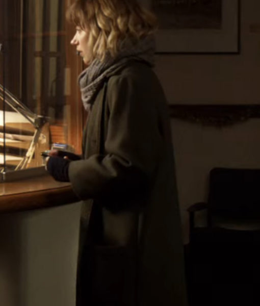 Black Christmas Imogen Poots Coat