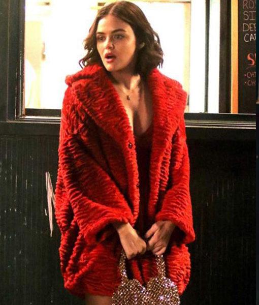 Katy Keene Lucy Hale Fur Coat front