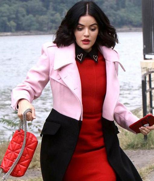 Katy Keene Lucy Hale Long Coat front