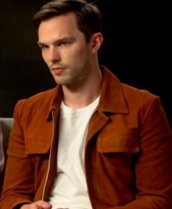 Nicholas Hoult Radio Studios Orange Jacket