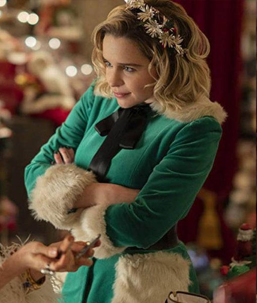 Last Christmas Emilia Clarke Green Jacket front