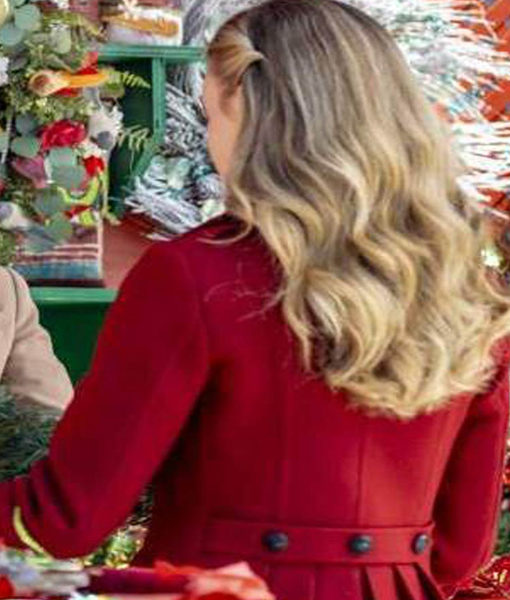 Christmas in Love Brooke D'Orsay Red Coat back
