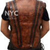Dundee Crocodile Leather Vest worn by Danny McBride Back