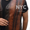 Dundee Crocodile Leather Vest worn by Danny McBride Closure