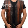 Dundee Crocodile Leather Vest worn by Danny McBride Front open