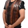 Dundee Crocodile Leather Vest worn by Danny McBride Right