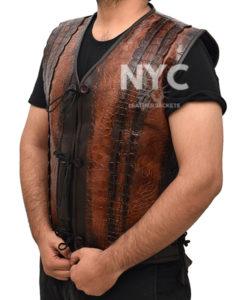 Dundee Crocodile Leather Vest