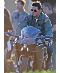 Top Gun 2 Maverick Bomber Patched Leather Jacket