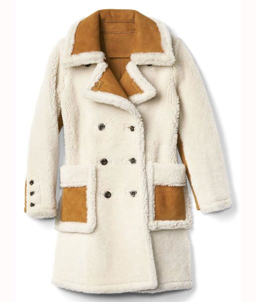 Double Breasted Aviator Coat Front