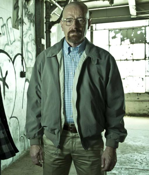 El Camino A Breaking Bad Brown Bomber Mike Ehrmantraut Jacket front