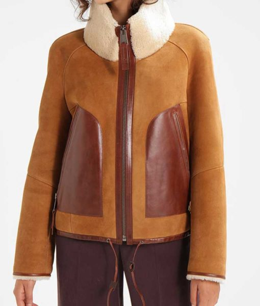 Womens Brown Suede Leather front
