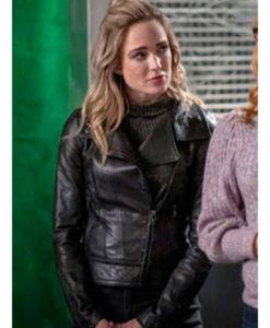 Arrow Season 08 Caity Lotz Leather Jacket
