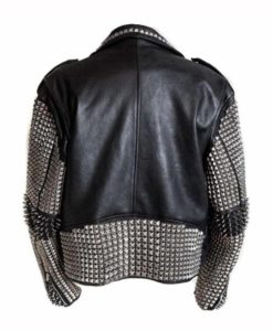 Mens Black Punk Studded Jacket