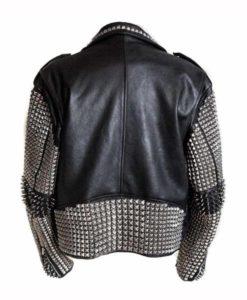 Mens Black Punk Studded Jacket