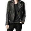 Black Spikes Studded Motorcycle Jacket