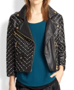 Studded Double Zipper Jacket
