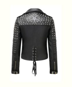 Black Studded Motorcycle Jacket