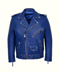 Blue Motorcycle Jacket