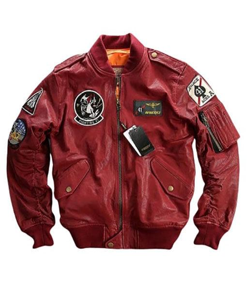 Red Bomber Jacket