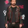 Nicolas Cage Black Studed Jacket