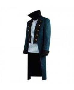 Downey Jr Blue Trench Coat