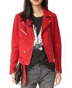 Emma Swan Red Biker Jacket