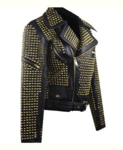 Full Golden Studded Jacket