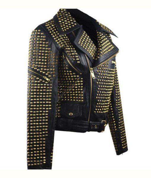 Full Golden Studded Jacket