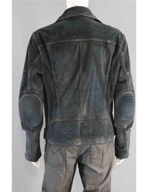 Jon Hamm Baby Driver Film Buddy Leather Jacket