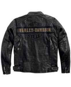 Men's Casual Black Harley Davidson Motorcycle Jacket