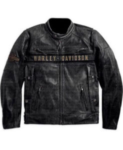 Men's Casual Black Harley Davidson Jacket