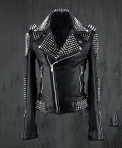 Black Studded Leather Jacket