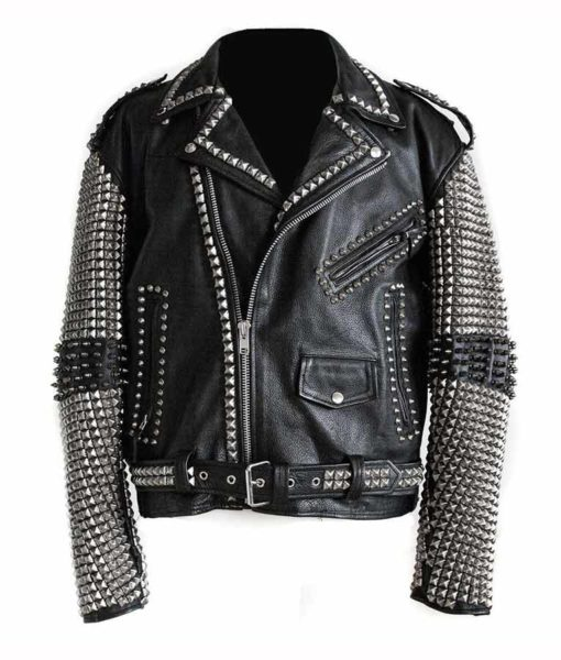 Black Punk Studded Jacket