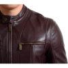 Cafe Racer Leather Motorcycle Jacket
