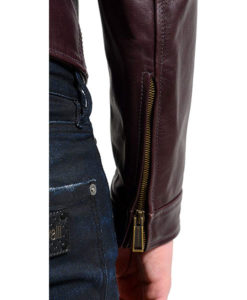 Men's Brown Leather Motorcycle Jacket