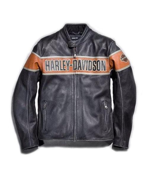 Mens Harley Davidson Black Leather Jacket
