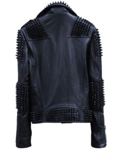 Studed Biker Leather Jacket