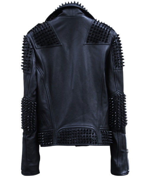 Studed Biker Leather Jacket