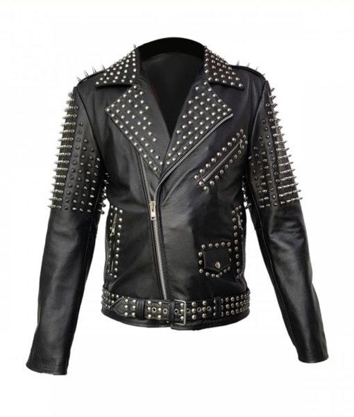 Mens Studded Cropped Jacket