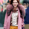 Anne Hathaway Modern Love Coat