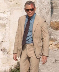 No Time to Die James Bond Beige Suit
