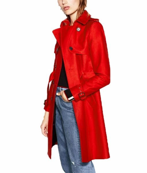 Polly Cooper Red Double Breasted Coat