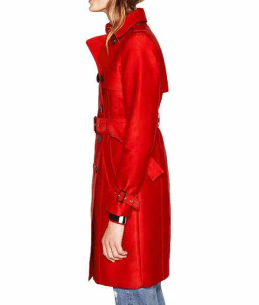 Riverdale Cooper Red Double Breasted Coat