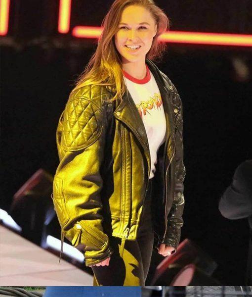 Ronda Rousey Bomber Biker Jacket