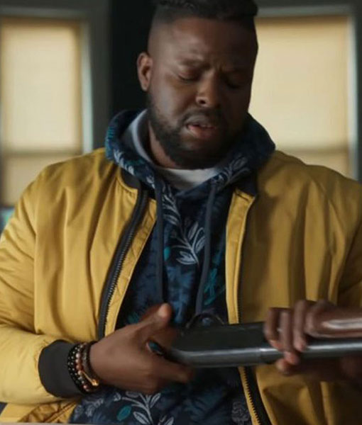 Spenser Confidential Hawk Yellow Jacket Winston Duke Puffer Jacket