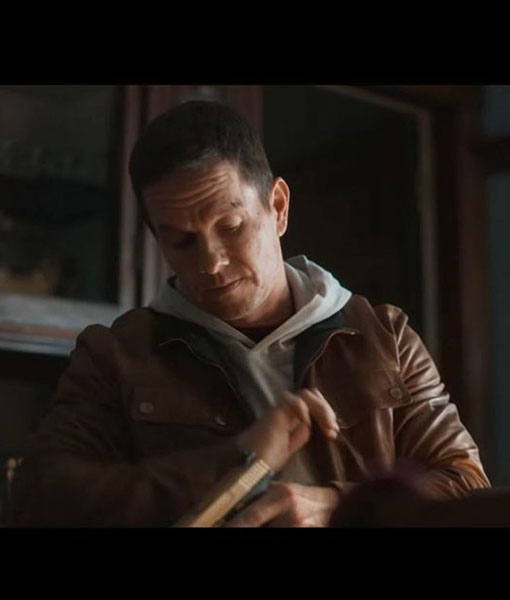 Spenser Confidential Mark Wahlberg Leather Jacket Brown Leather Jacket